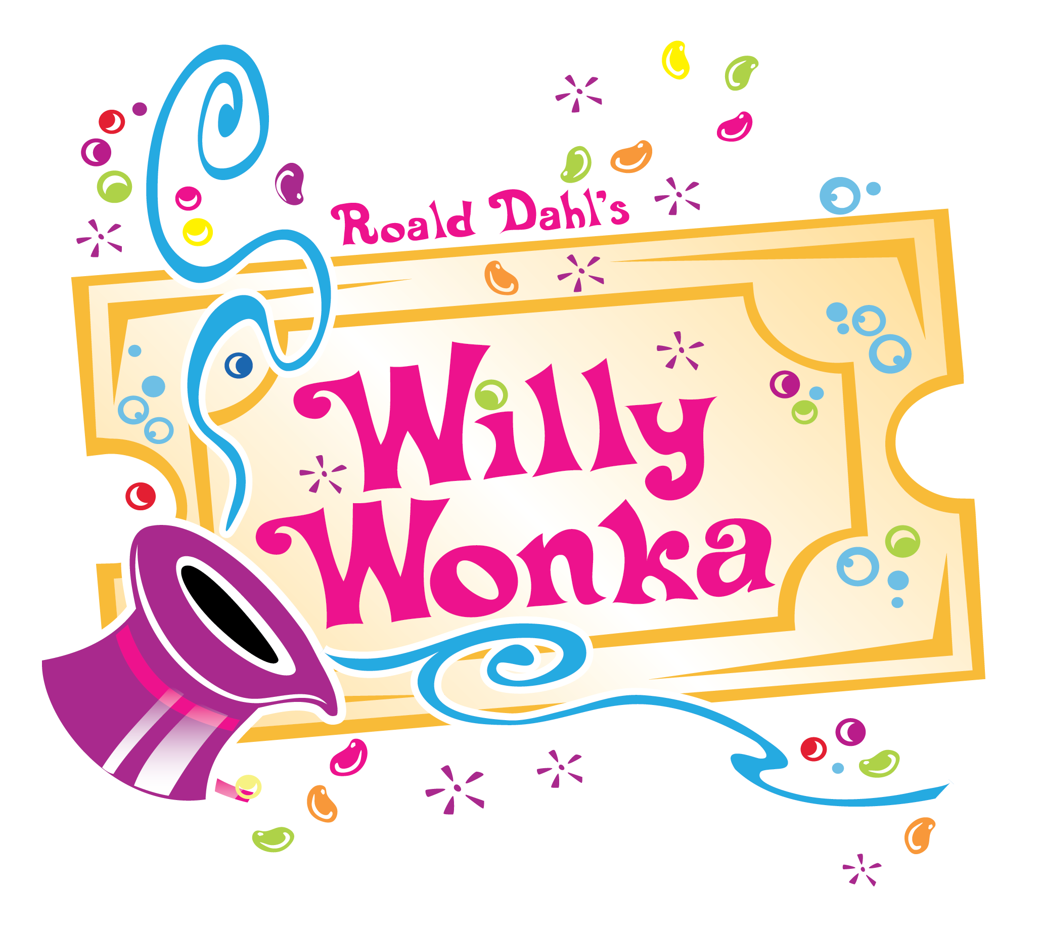 congratulations to the cast of willy wonka at shine shine rh shineplano com willy wonka sweets clipart willy wonka hat clip art